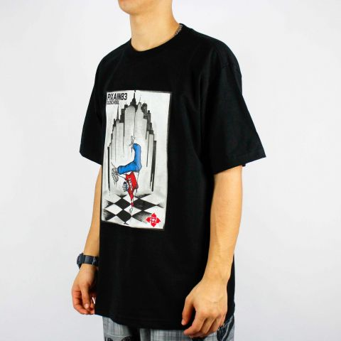 Camiseta Pixa In Old School Brak Dance - Preto/Cinza/Branca