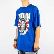 Camiseta Pixa In Old School Catrina - Azul Royal/Branca/Vermelha