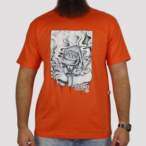 Camiseta Pixa In Old School Grafiteiro - Laranja