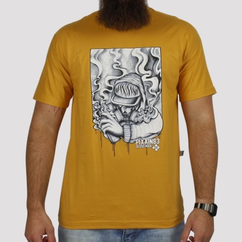 Camiseta Pixa In Old School Grafiteiro - Mostarda