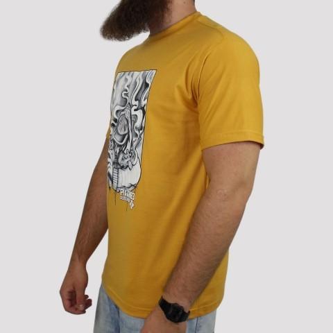 Camiseta Pixa In Old School Grafiteiro - Mostarda