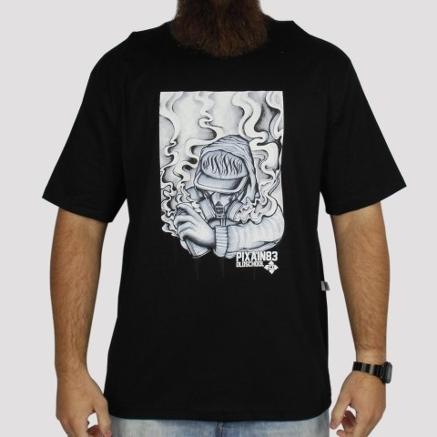 Camiseta Pixa In Old School Grafiteiro - Preto
