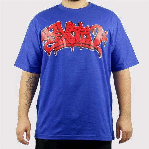 Camiseta Pixa in Pixe - Azul/Vermelho