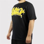 Camiseta Pixa in Pixe Preto/Amarela