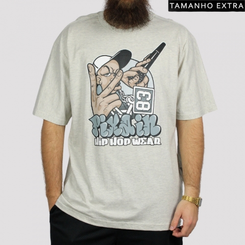 Camiseta Pixa In Rapper - Mescla Claro