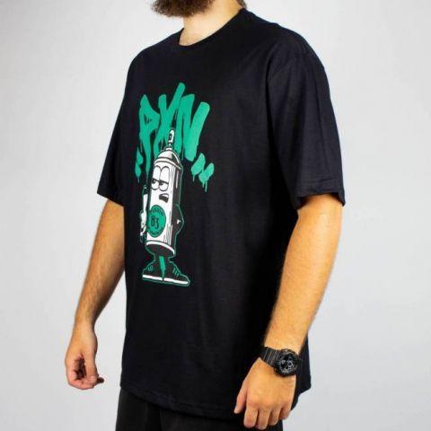 Camiseta Pixa In Spray 83 - Preta/Verde