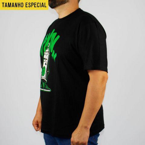 Camiseta Pixa In Spray 83 Preta/Verde (Tamanho Especial)