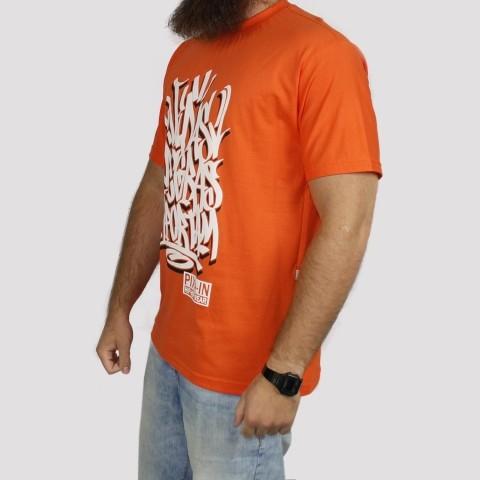 Camiseta Pixa In Vidas Negras Importam - Laranja