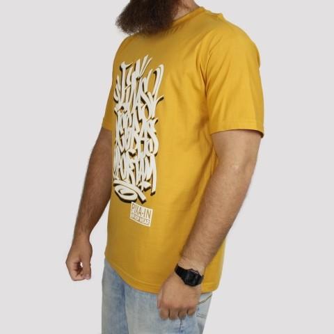 Camiseta Pixa In Vidas Negras Importam - Mostarda