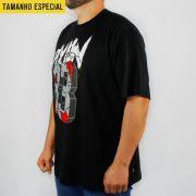 Camiseta Pixan In Arame Farpado Rua 83 Preta (Tamanho Especial)