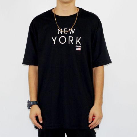 Camiseta Prison New York - Preta/Branca