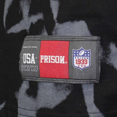 Camiseta Prison Globo - Preto/Laranja