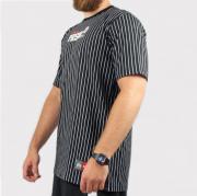 Camiseta Prison Listrada - Preta/Branca