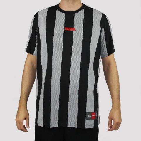 Camiseta Prison Listrada - Preto/ Branco