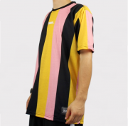 Camiseta Prison Listrada Street Island - Amarela/Preto/Rosa