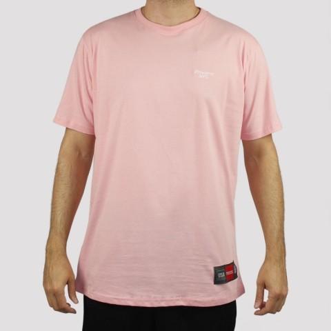 Camiseta Prison Logo Bordado - Rosa