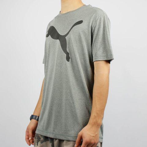 Camiseta Puma Drycell Active Big Logo - Cinza Mescla/Preto