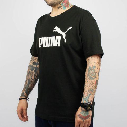 Camiseta Puma Essentials Logo - Preto/Branco