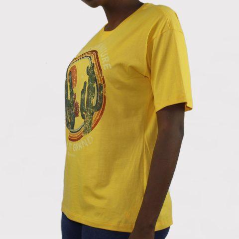 Camiseta Qix Missy Over - Amarelo