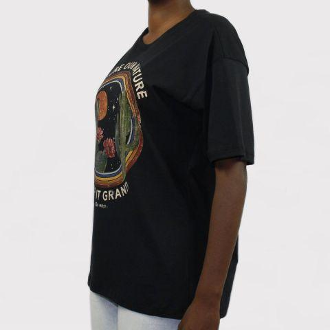 Camiseta Qix Missy Over Preto