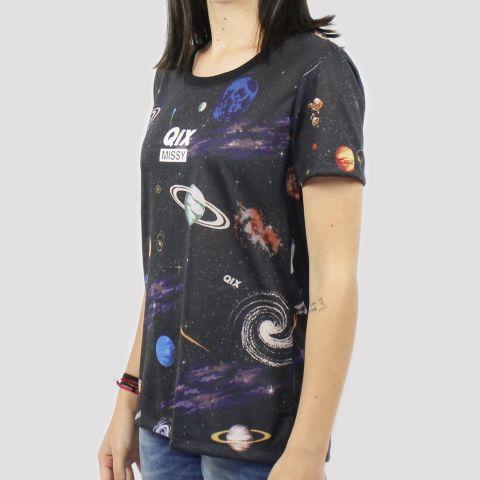 Camiseta Qix Missy Universo - Preto/Azul