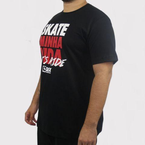 Camiseta Qix Skate Minha Vida - Preto