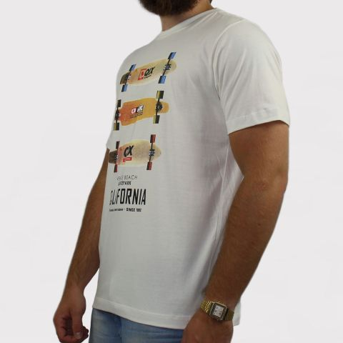 Camiseta Qix Special Long Board - Off White