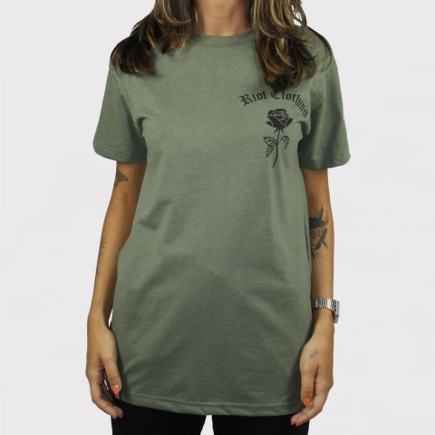 Camiseta Riot 2018 - Verde Estonado