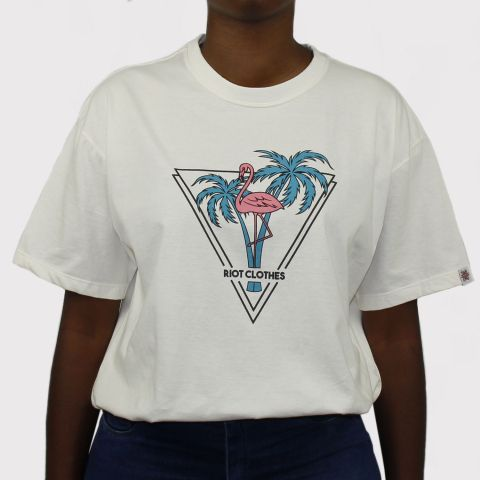 Camiseta Riot Go Summer - Off White
