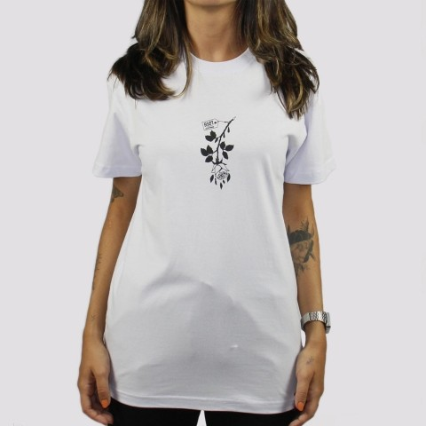 Camiseta Riot Inverted Rose - Branca