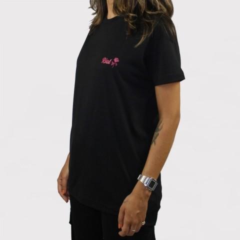 Camiseta Riot Logo - Preta/Rosa