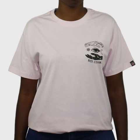 Camiseta Riot Mystic - Rosa bebê