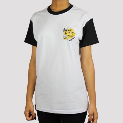 Camiseta Riot Old Tiger - Branco/ Preto