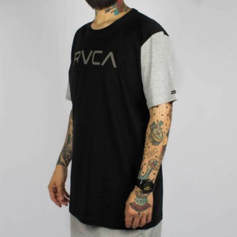 Camiseta RVCA Big Rvca - Preta/Cinza