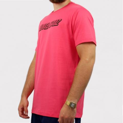 Camiseta Santa Cruz Classic Strip 1 - Rosa/Preto