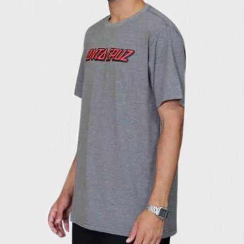 Camiseta Santa Cruz Classic Strip - Chumbo/Mescla
