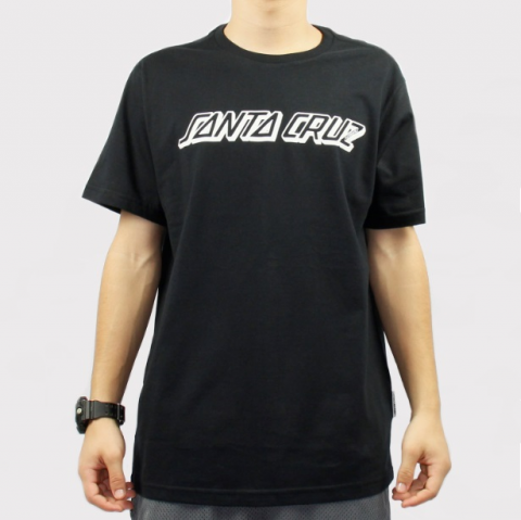 Camiseta Santa Cruz Classic Strip - Preto/Branco