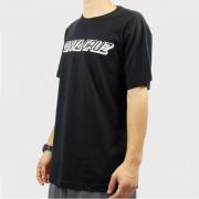 Camiseta Santa Cruz Classic Strip - Preto/Branco