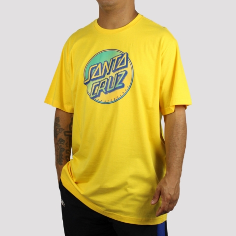 Camiseta Santa Cruz Contra Dot Pop - Amarelo