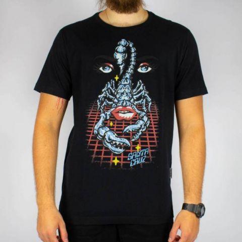 Camiseta Santa Cruz Danger Zone - Preta