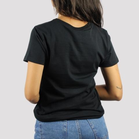 Camiseta Santa Cruz Feminina Screaming Hand Chest - Preto