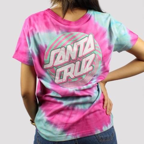 Camiseta Santa Cruz Feminina Twister Dot - Rosa