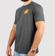 Camiseta Santa Cruz Flame Hand Chumbo