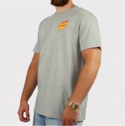 Camiseta Santa Cruz Flame Hand Cinza Mescla