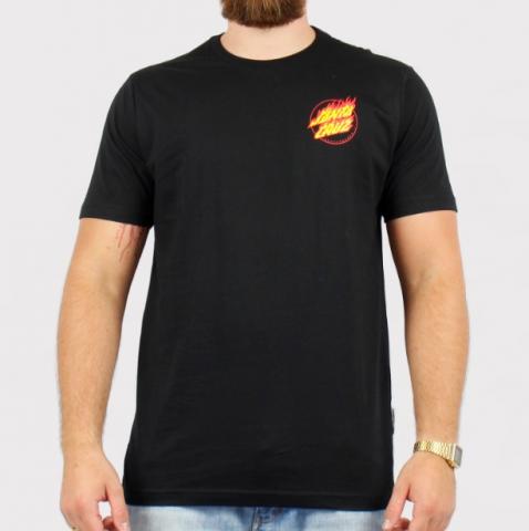 Camiseta Santa Cruz Flame Hand - Preto
