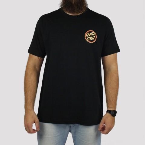 Camiseta Santa Cruz Gleam Dot - Preto