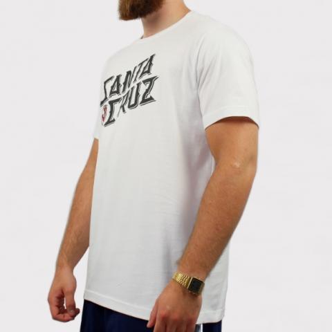 Camiseta Santa Cruz Hand Stamp - Branco/Preto
