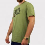 Camiseta Santa Cruz Hand Stamp Verde Oliva