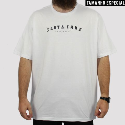 Camiseta Santa Cruz Headliner Big (Tamanho Especial) - Branca
