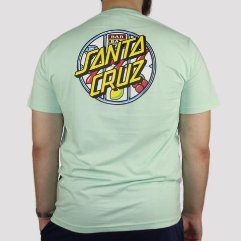 Camiseta Santa Cruz Jackpot Dot - Verde Água